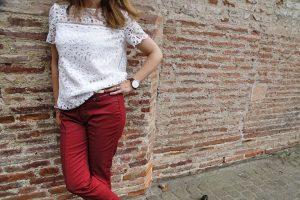 Du rouge à Toulouse : Le pantalon rouge DPM by depech'mod