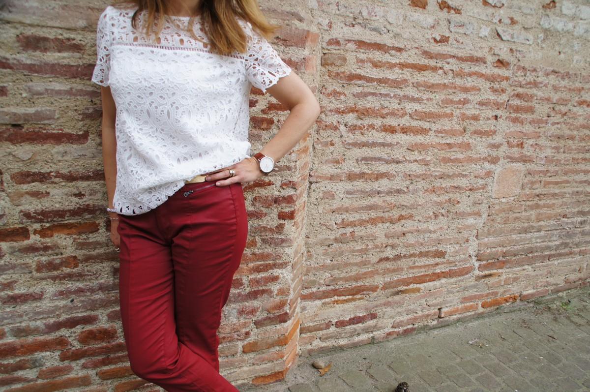 Le pantalon rouge DPM by depech'mod