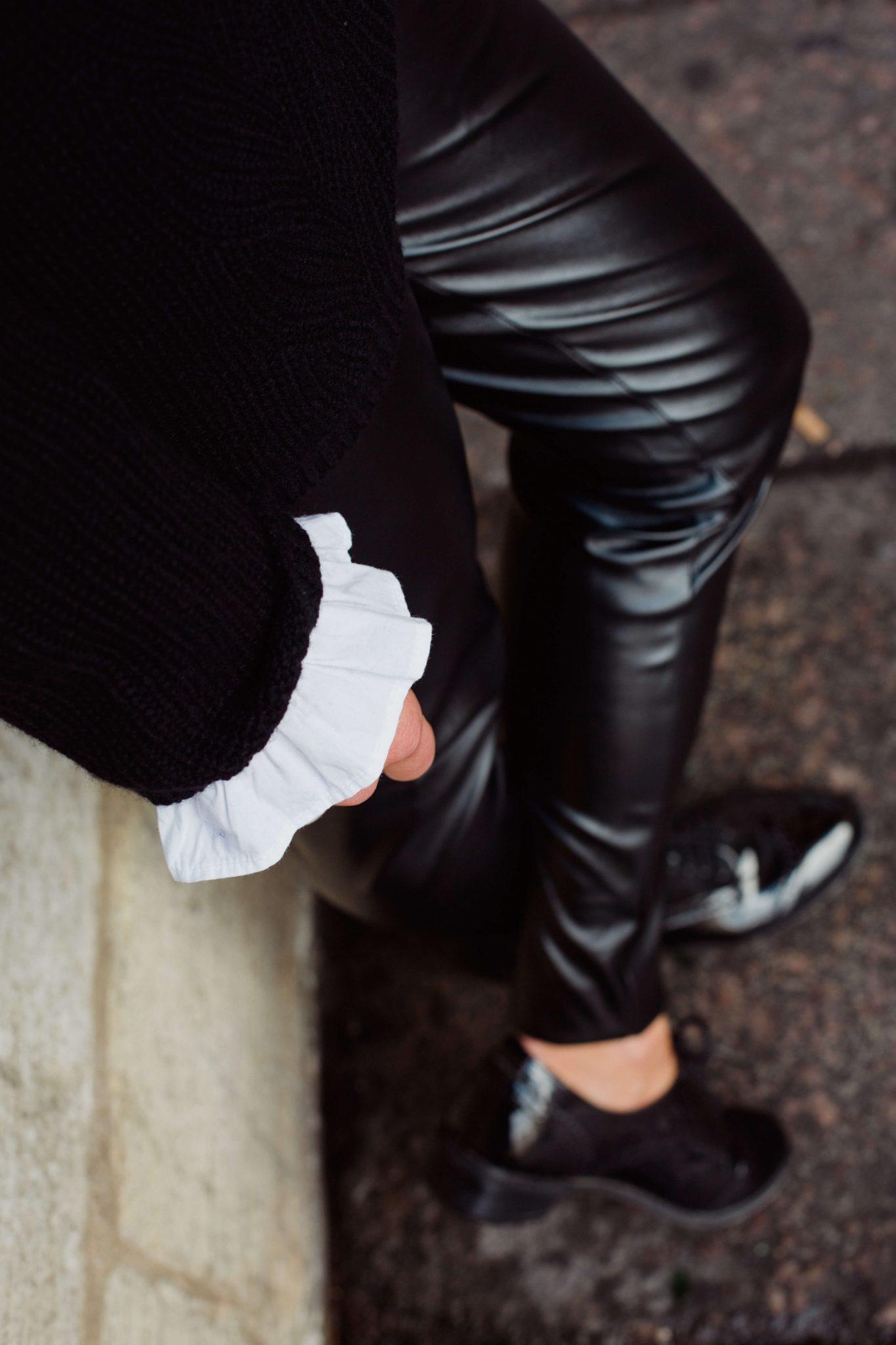 pull noir femme tregging