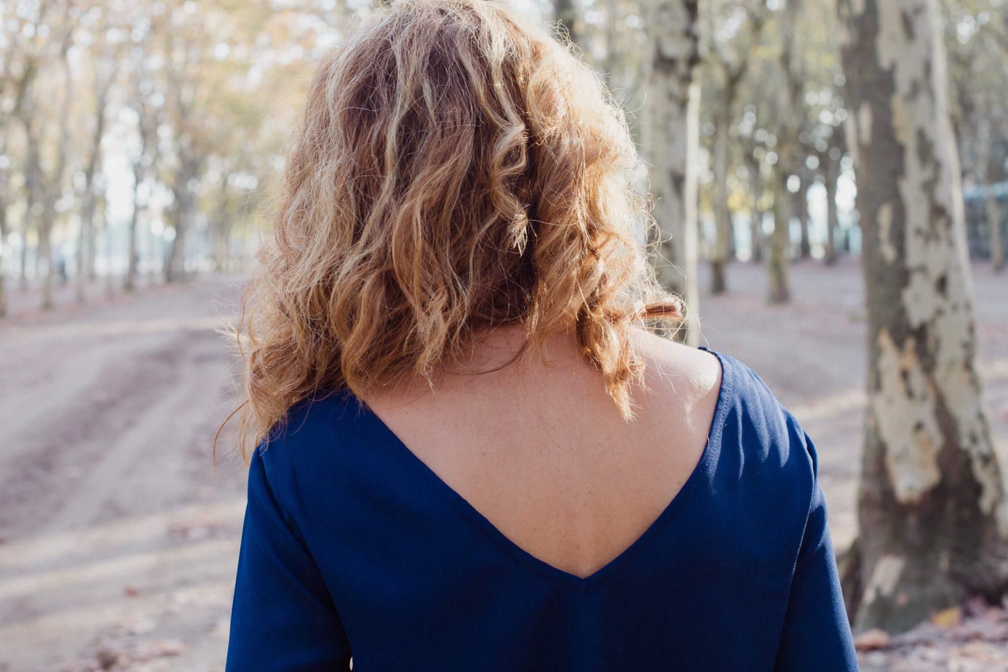 Blouse femme bleue