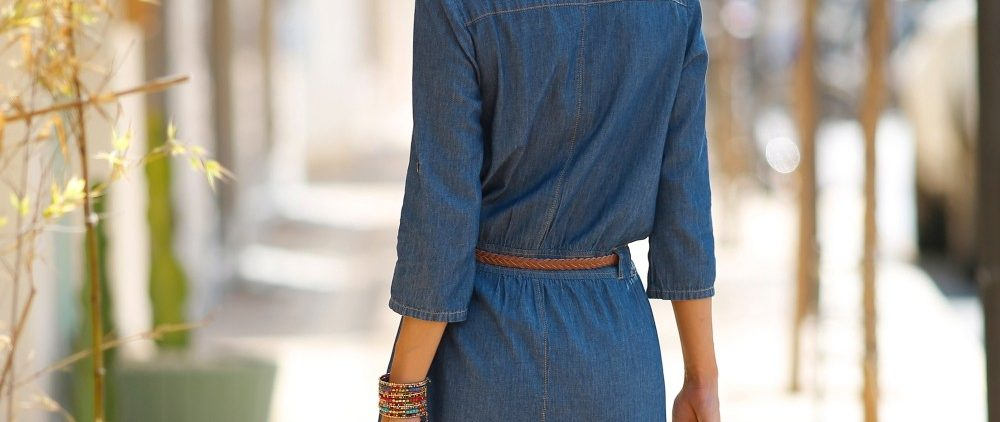 Robe chemisier denim